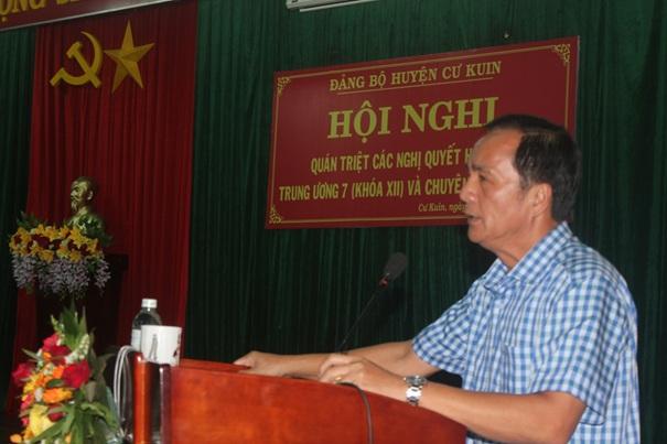 Huyện ủy Cư Kuin quán triệt Nghị quyết Hội nghị Trung ương 7 (khóa XII) của Đảng