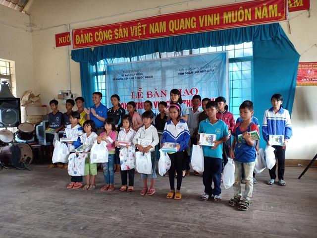 Lễ bàn giao công trình vui chơi cho thiếu nhi huyện Lắk năm 2018
