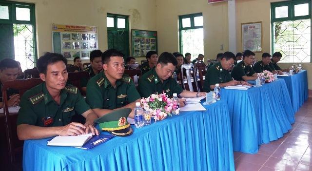 Đồn Biên phòng Ea H'leo: Tổ chức Hội nghị sơ kết công tác biên phòng 6 tháng đầu năm 2018