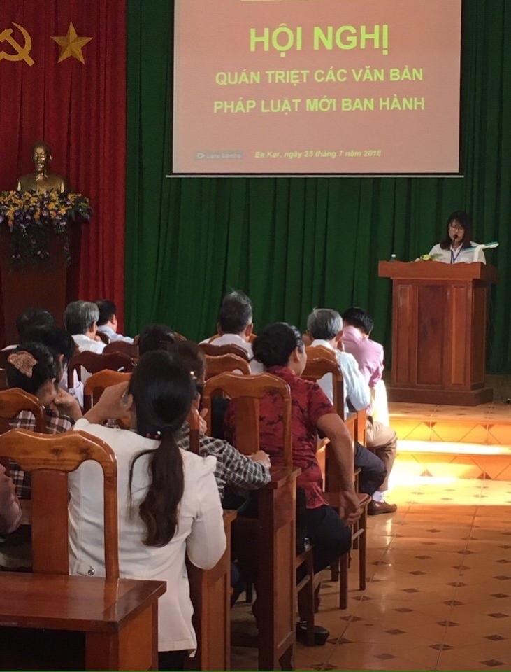 Hội nghị tập huấn quán triệt các văn bản pháp luật mới ban hành.