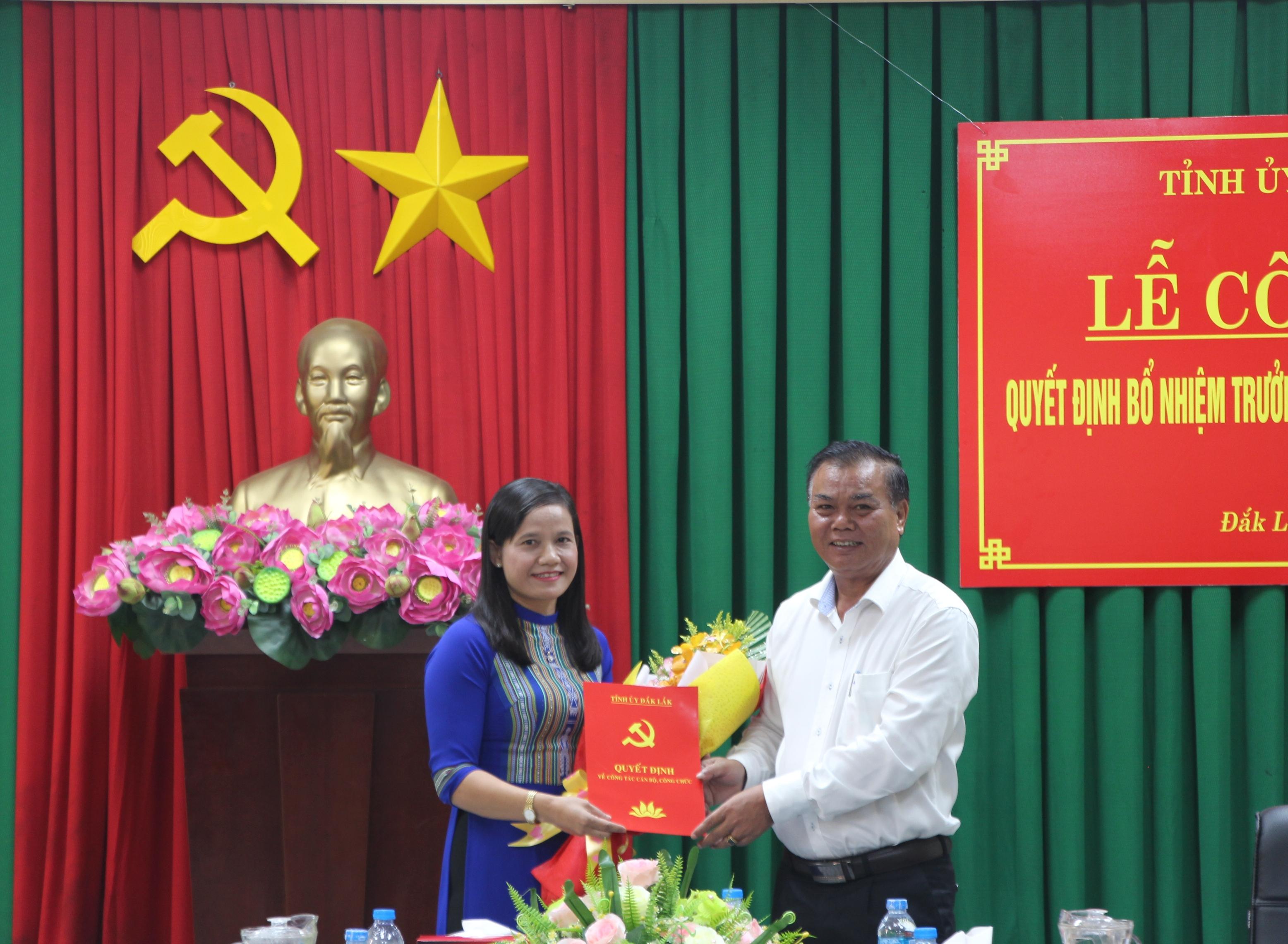 Bổ nhiệm Trưởng Ban Tổ chức Tỉnh ủy Đắk Lắk