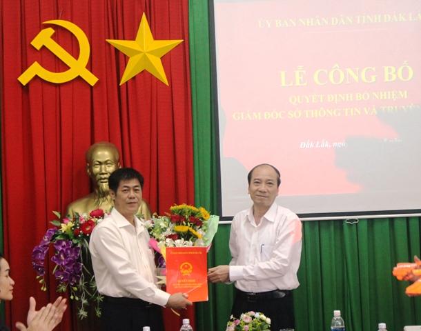 Công bố quyết định bổ nhiệm Giám đốc Sở Thông tin và Truyền thông Đắk Lắk