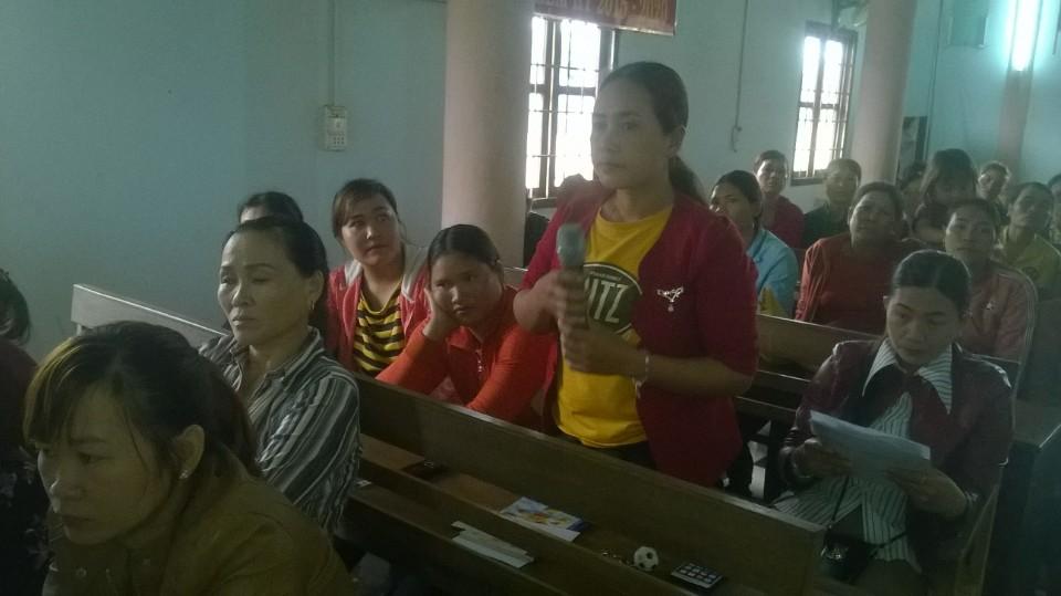 Hội LHPN huyện Cư M'gar tổ chức Hội nghị tư vấn pháp luật cộng đồng tại xã Ea Drơng
