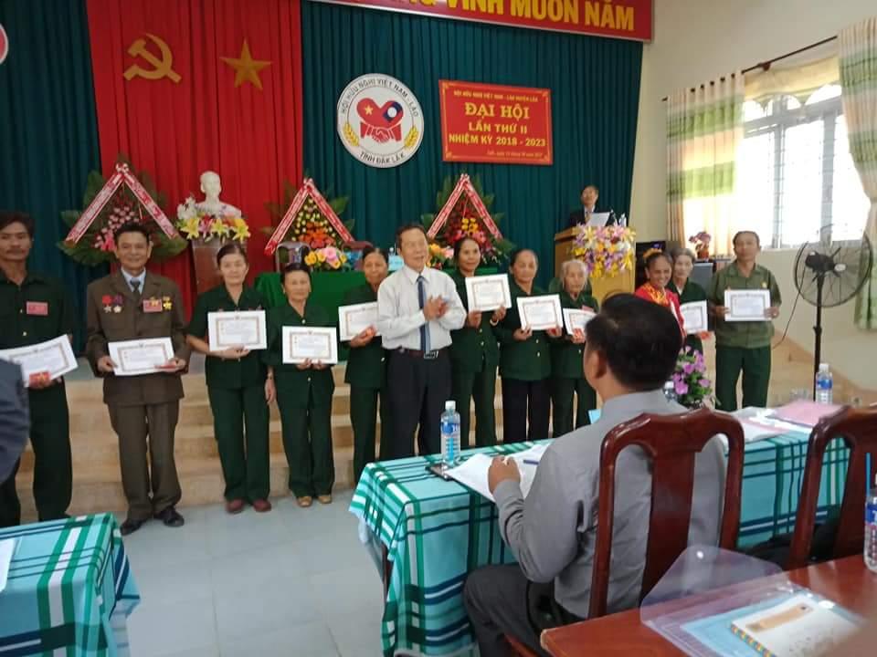 Đại hội Hội Hữu nghị Việt Nam - Lào huyện Lắk khóa II, nhiệm kỳ 2018 – 2023