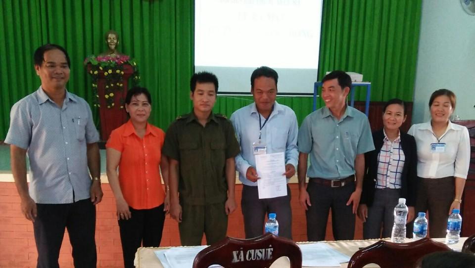 Hội Liên hiệp Phụ nữ xã Cư Suê, huyện Cư M'gar ra mắt Tổ tư vấn cộng đồng cấp xã