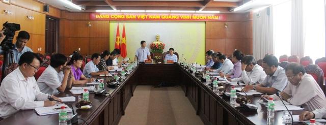 Đoàn giám sát thực hiện Nghị quyết Hội nghị lần thứ 5 Ban Chấp hành Trung ương Đảng, khóa XII làm việc với Tỉnh ủy Đắk Lắk