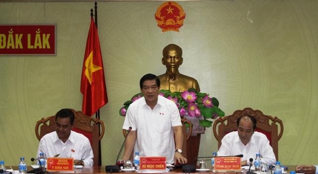 Đoàn giám sát của Quốc hội làm việc với UBND tỉnh về công tác quản lý đất đai tại các nông, lâm trường
