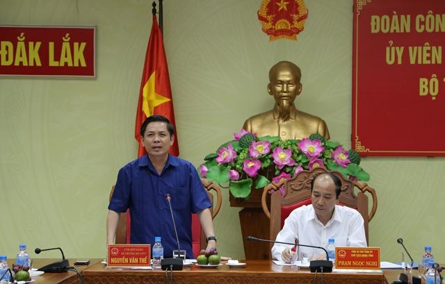 Đoàn công tác của Bộ Giao thông vận tải làm việc tại tỉnh Đắk Lắk
