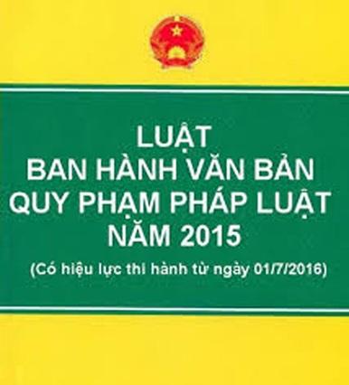 Báo cáo tình hình thi hành Luật ban hành văn bản quy phạm pháp luật năm 2015