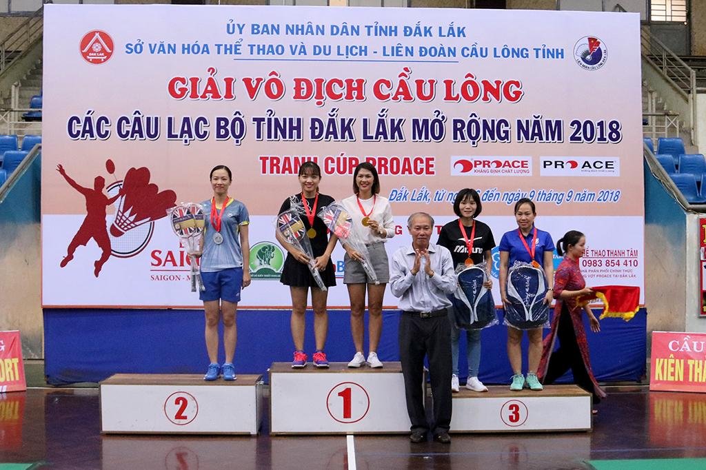 Giải vô địch Cầu lông các câu lạc bộ tỉnh Đắk Lắk mở rộng năm 2018: Câu lạc bộ Buôn Ma Thuột nhất toàn đoàn