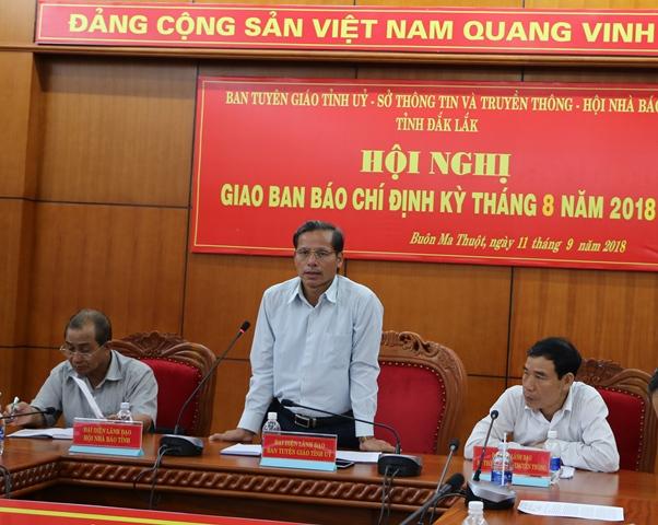 Hội nghị Giao ban báo chí định kỳ tháng 8/2018