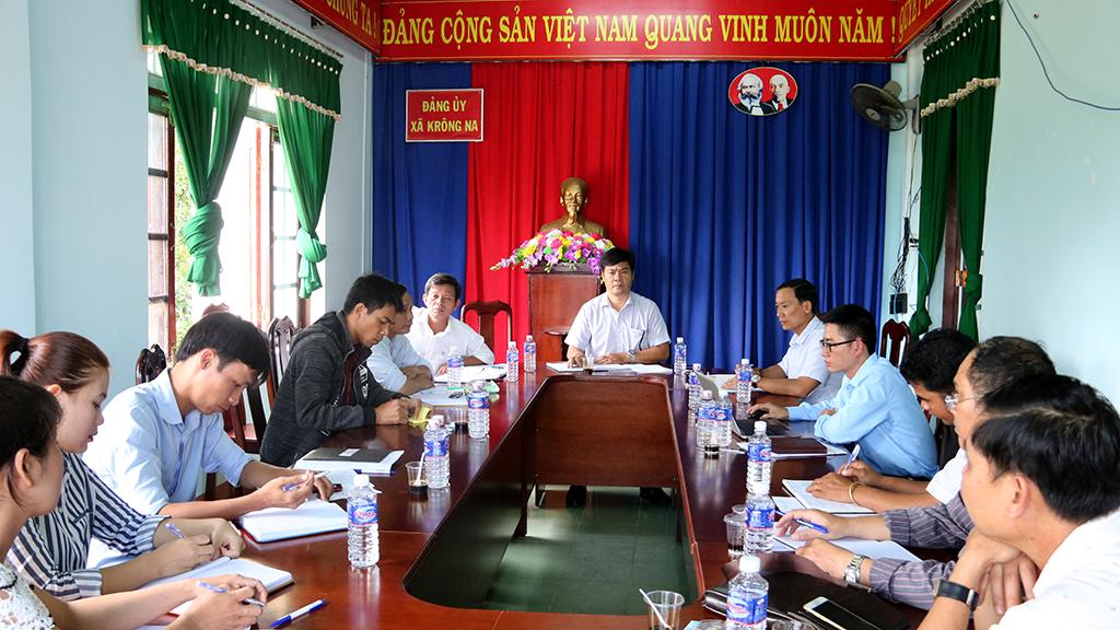 Kiểm tra công tác cải cách hành chính tại xã Krông Na, huyện Buôn Đôn