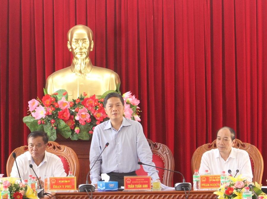 Bộ trưởng Bộ Công Thương làm việc tại tỉnh Đắk Lắk