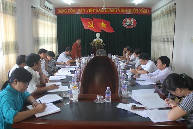 Đoàn công tác của Ban Tuyên giáo Tỉnh ủy làm việc với Ban Tuyên giáo Huyện ủy Buôn Đôn