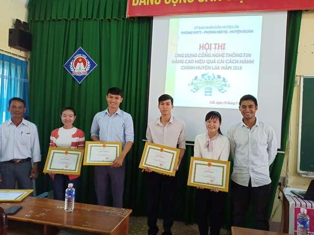 Hội thi Ứng dụng công nghệ thông tin nâng cao hiệu quả cải cách hành chính huyện Lắk năm 2018