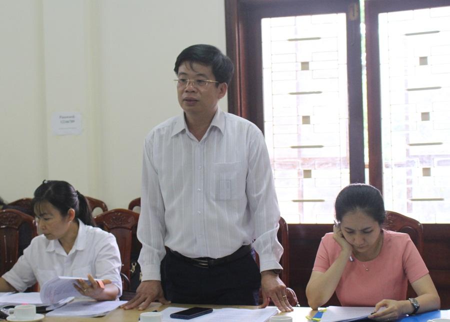 Tổ công tác của UBND tỉnh làm việc tại Sở Kế hoạch và Đầu tư