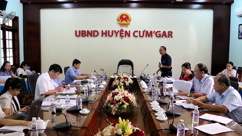 Tổ công tác của Chủ tịch UBND tỉnh làm việc với UBND huyện Cư M'gar