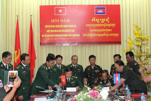 Hội đàm giữa Bộ đội Biên phòng tỉnh Đắk Lắk  (Việt Nam) và Tiểu khu quân sự tỉnh Mundulkiri(Campuchia)