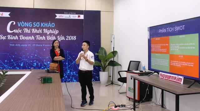 """31 dự án xuất sắc vào vòng chung kết Cuộc thi """"khởi nghiệp, khởi sự kinh doanh tỉnh Đắk Lắk 2018"""""""