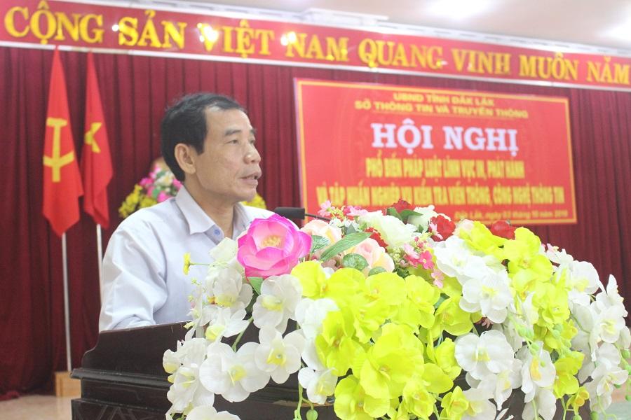 Ông Nguyễn Ngọc Tý – Phó Giám đốc Sở TT&TT phát biểu tại Hội nghị