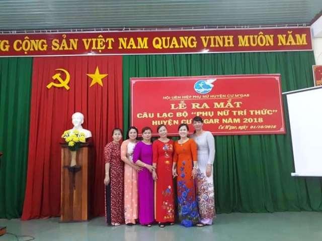 Huyện Cư M'gar: Tổ chức lễ ra mắt Câu lạc bộ Phụ nữ trí thức