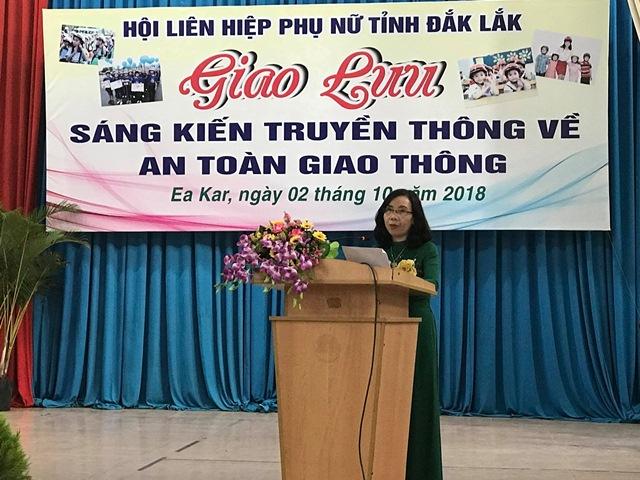 """Hội Liên hiệp Phụ nữ tỉnh tổ chức chương trình giao lưu """"Sáng kiến truyền thông về an toàn giao thông"""""""