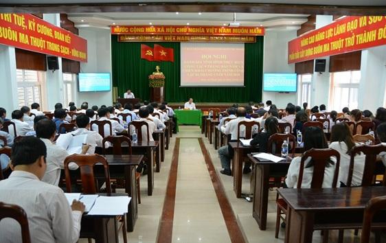 UBND thành phố Buôn Ma Thuột: Hội nghị đánh giá tình hình công tác 9 tháng đầu năm 2018 và triển khai chương trình kế hoạch 3 tháng cuối năm 2018