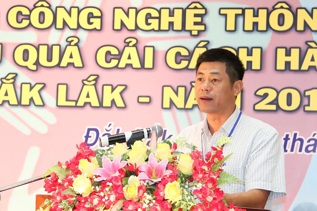 Giám đốc Sở Thông tin và Truyền thông Nguyễn Hoàng Giang, Trưởng Ban tổ chức Hội thi đánh giá chất lượng hội thi năm nay.