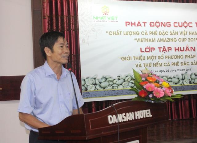 Lãnh đạo Viện Khoa học kỹ thuật Nông, Lâm nghiệp Tây Nguyên phát biểu hưởng ứng Cuộc thi