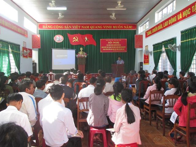 Tập huấn đề án giảm thiểu tảo hôn và hôn nhân cận huyết thống tại xã Hòa Phong, huyện Krông Bông