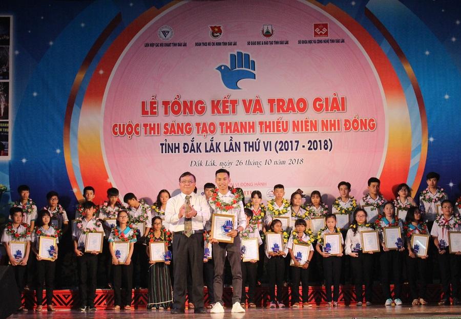 Tổng kết và trao giải Cuộc thi sáng tạo thanh thiếu niên, nhi đồng tỉnh Đắk Lắk lần thứ VI (năm 2017-2018)