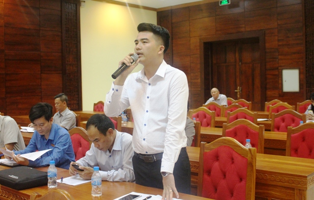 Đại diện Khách sạn Mường Thanh phát biểu tại buổi gặp mặt
