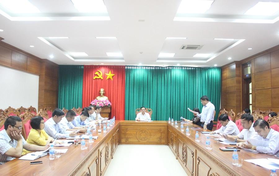Đoàn giám sát HĐND tỉnh làm việc với UBND tỉnh về tình hình thực hiện đầu tư công