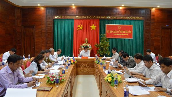 Ủy ban bầu cử Đại biểu Quốc hội khóa XIV và Đại biểu HĐND tỉnh nhiệm kỳ 2016 – 2021 họp phiên thứ nhất