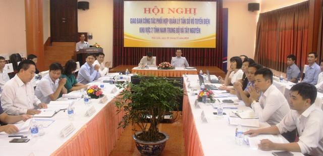 Hội nghị giao ban công tác phối hợp quản lý tần số vô tuyến điện khu vực 7 tỉnh Nam Trung Bộ và Tây Nguyên.