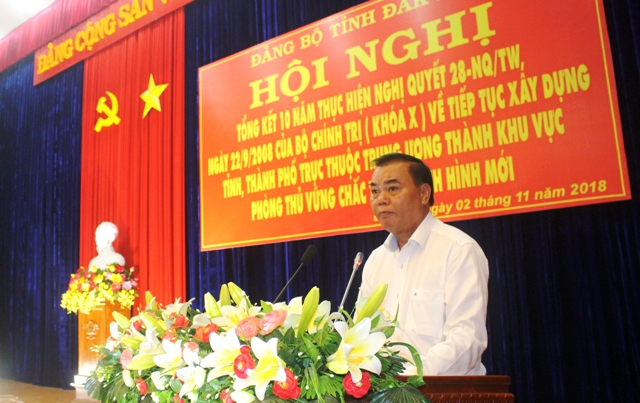 Bí thư Tỉnh ủy Êban Y Phu phát biểu chỉ đạo tại Hội nghị
