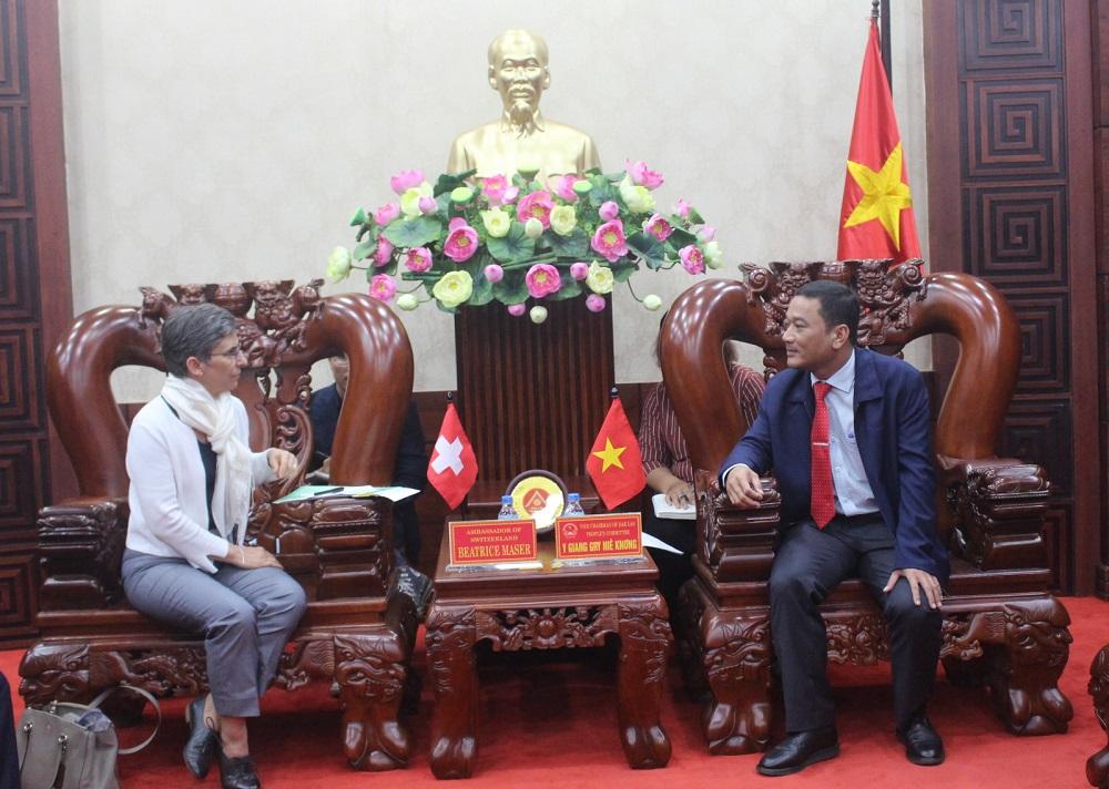 UBND tỉnh chào xã giao Đại sứ Thụy Sỹ tại Việt Nam
