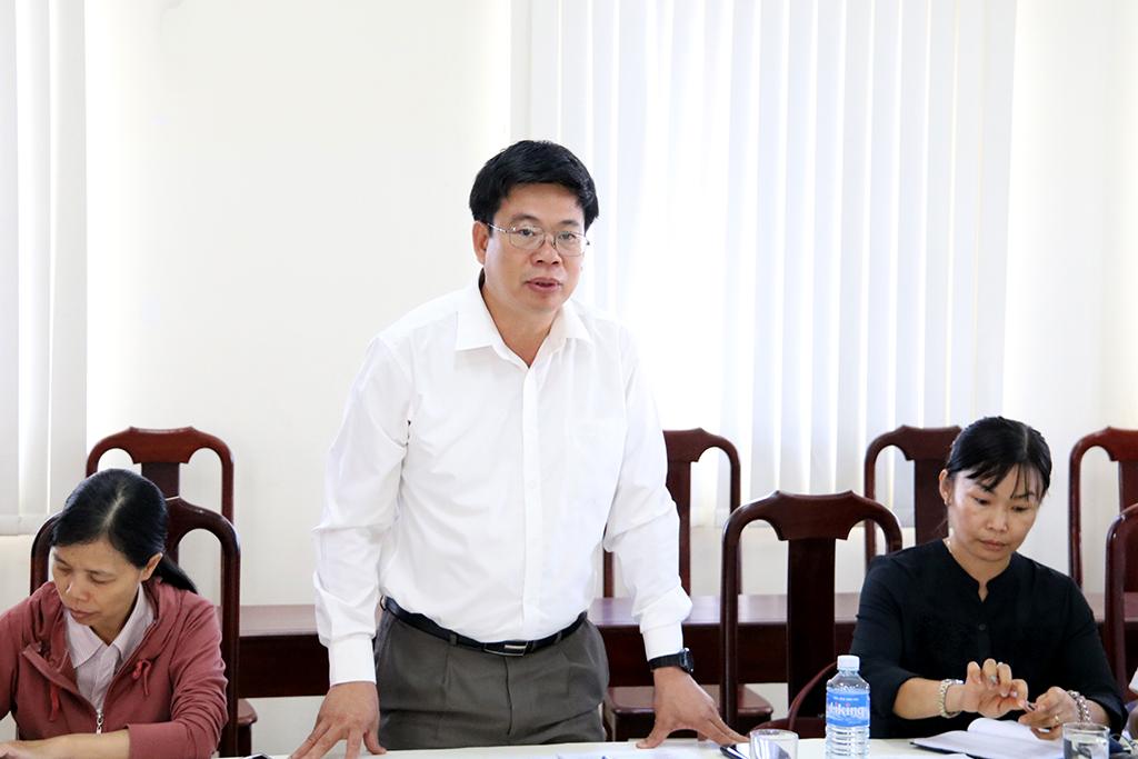 Tổ công tác của Chủ tịch UBND tỉnh kiểm tra tại Sở Nội vụ