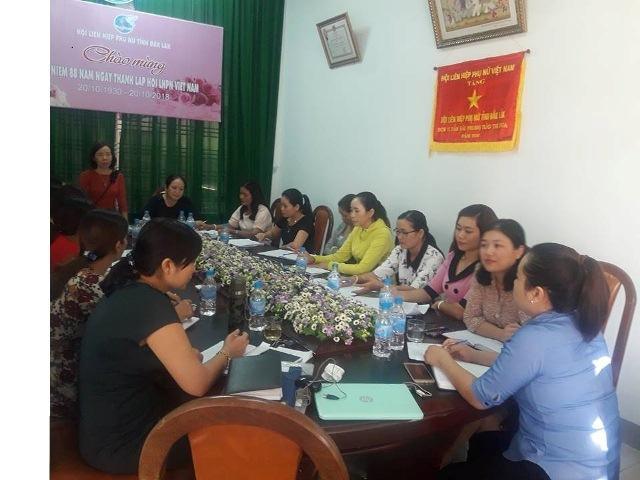 Hội nghị giao ban Cụm thi đua số 1 - Hội LHPN tỉnh Đắk Lắk