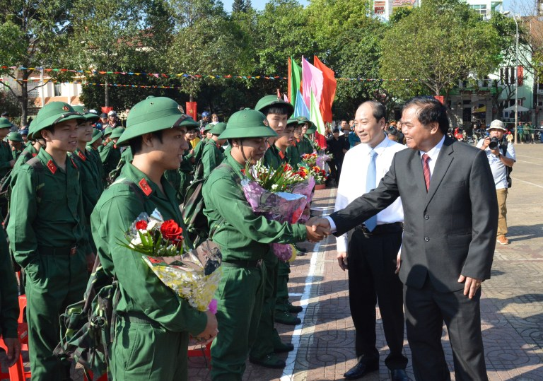 Lễ giao nhận quân năm 2016.