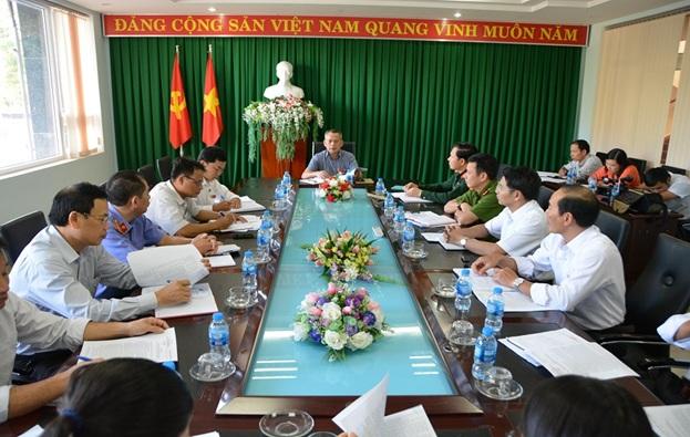 Thường trực Thành ủy Buôn Ma Thuột tổ chức Hội nghị giao ban Khối nội chính tháng 11 và triển khai nhiệm vụ tháng 12 năm 2018