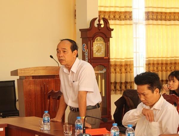 Giám đốc Sở Nội vụ Miên Klơng phát biểu tại buổi gặp mặt