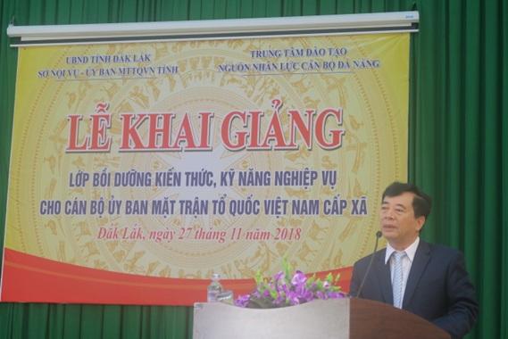 Bồi dưỡng kiến thức, kỹ năng nghiệp vụ công tác Mặt trận cho cán bộ cấp xã trên địa bàn tỉnh Đắk Lắk