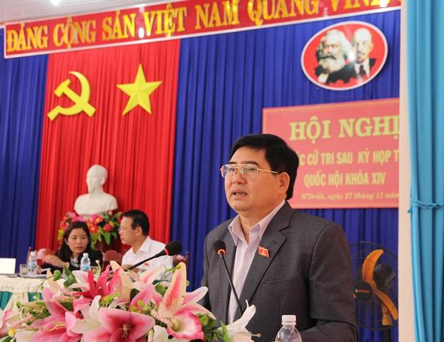 Đoàn đại biểu Quốc hội tỉnh tiếp xúc cử tri tại huyện M'Đrắk và Ea Kar