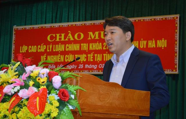 UBND tỉnh tiếp và làm việc với Đoàn nghiên cứu thực tế của Học viện Chính trị Quốc gia Hồ Chí Minh.