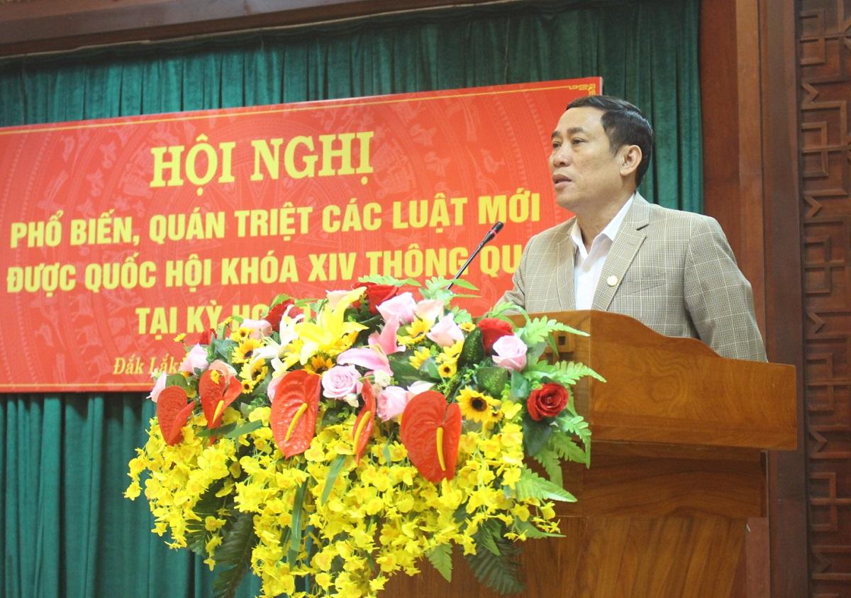 Phó Chủ tịch UBND tỉnh Võ Văn Cảnh phát biểu tại Hội nghị