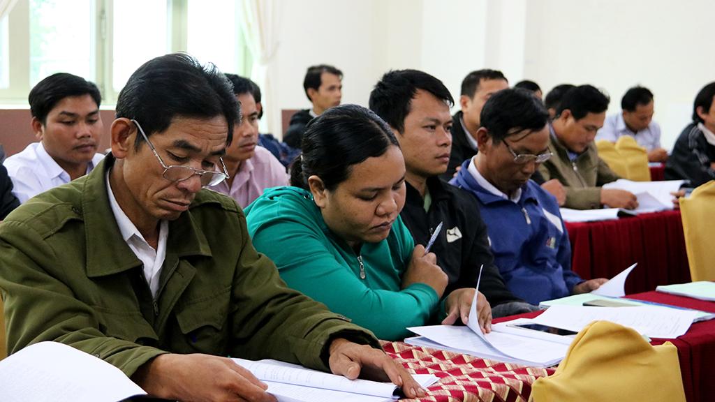 Các đại biểu tham dự hội nghị tập huấn.