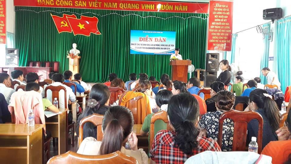 Huyện Krông Ana tổ chức Diễn đàn chia sẻ công tác bình đẳng giới và phòng chống bạo lực trên cơ sở giới