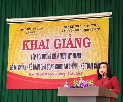 Sở Nội vụ tỉnh Đắk Lắk tổ chức Lớp bồi dưỡng kiến thức, kỹ năng về Tài chính - Kế toán cho công chức cấp xã trên địa bàn tỉnh Đắk Lắk