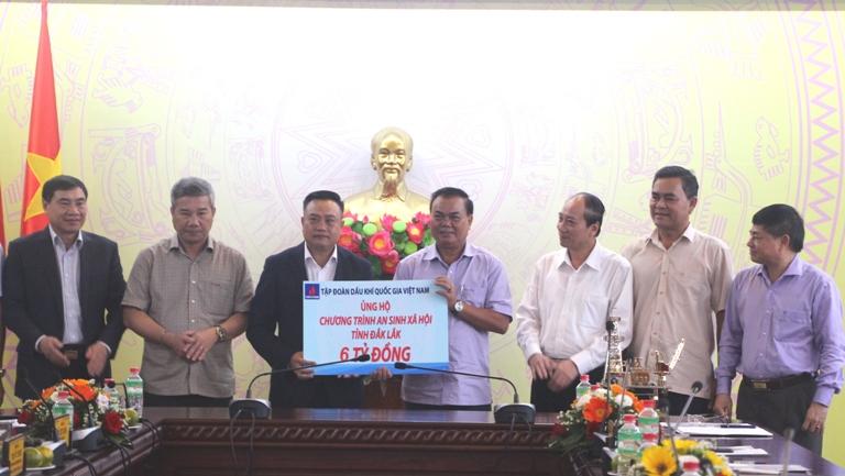 Tập đoàn Dầu khí Việt Nam thăm và làm việc tại tỉnh Đắk Lắk